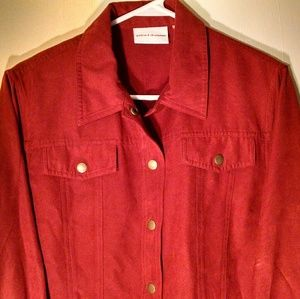 Alfred Dunner Paprika Button-Up Blazer Size 12